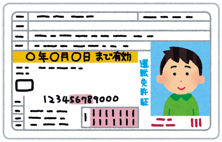 運転免許証(男性)