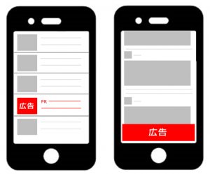 アプリ内広告の掲載イメージ図