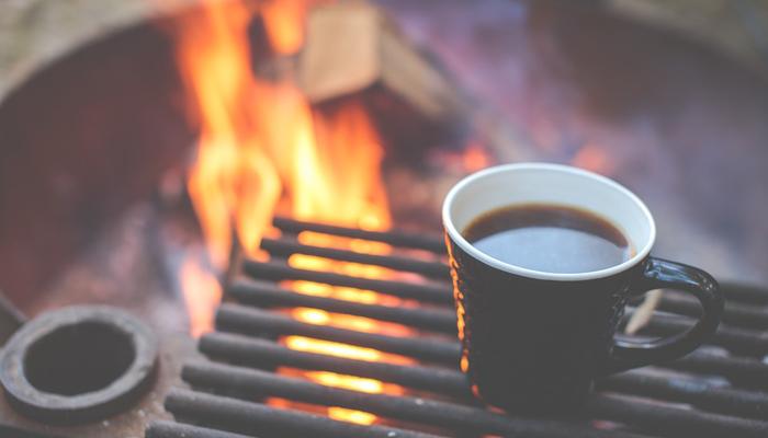 キャンプのコーヒー